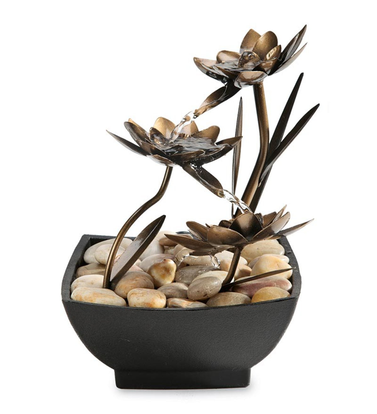 Lotus Flower Metal Fountain