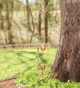 Three-Bell Wind Chime Garden Stake