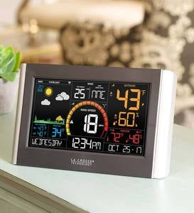 Color Wind Speed Weather Station with Two Wireless Remote Sensors