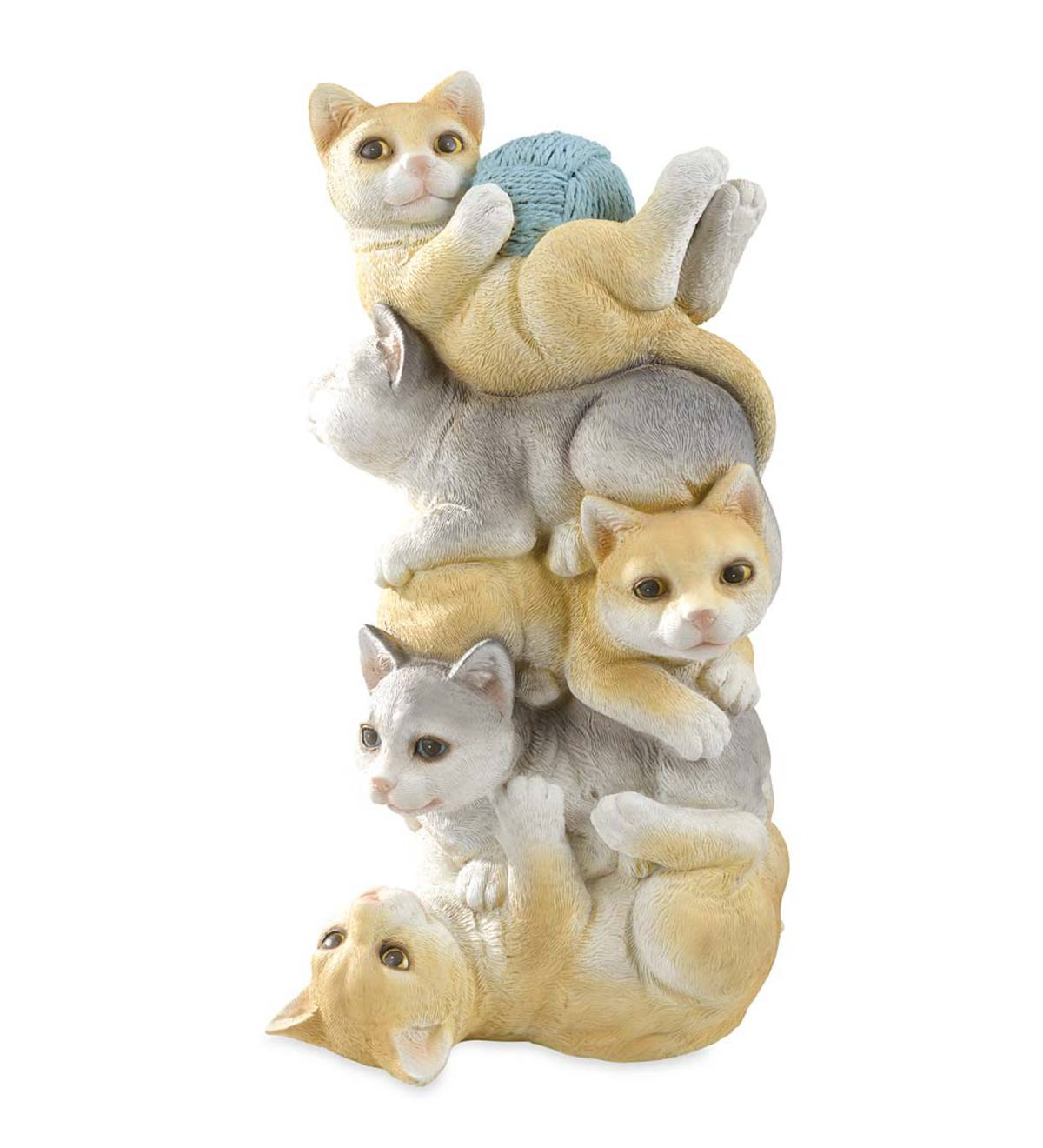 Stacked Cats Statue