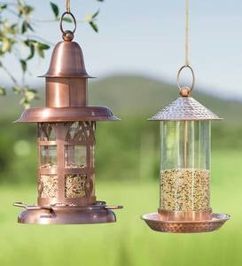 Vintage Metal Lantern Bird Feeder