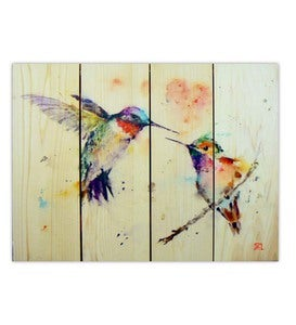 Handcrafted Love Hummingbird Wall Art by Gizaun Art™