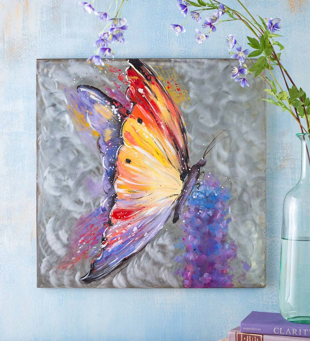 Handcrafted Butterfly Metal Wall Art