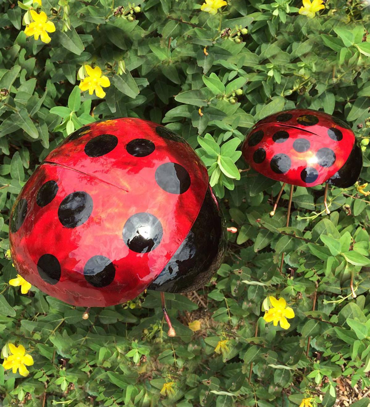 Bon Copper Ladybug Garden Stake, Extra Large