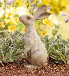 Short Sitting Bunny Sculpture