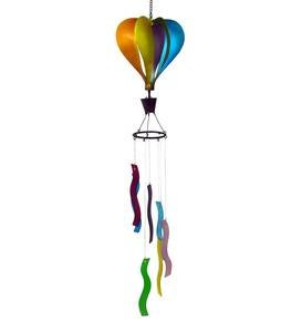 Handcrafted Metal Hot Air Balloon Wind Spinner Chime