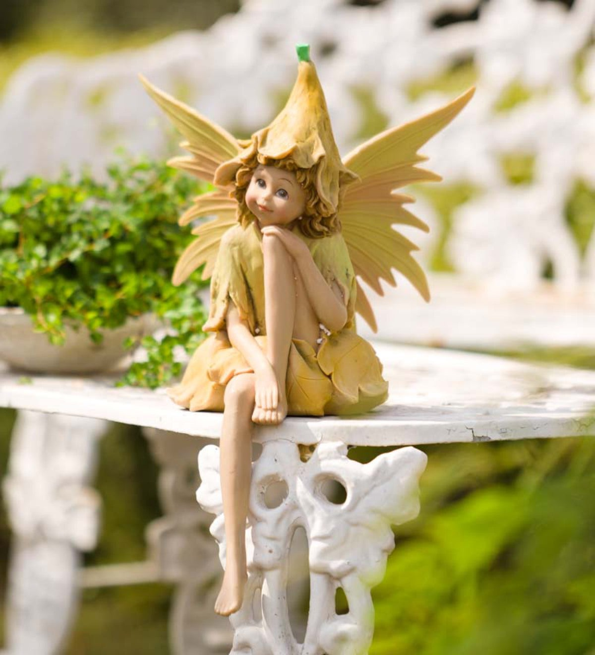 Large Nature Fairy Statue Wind And Weather