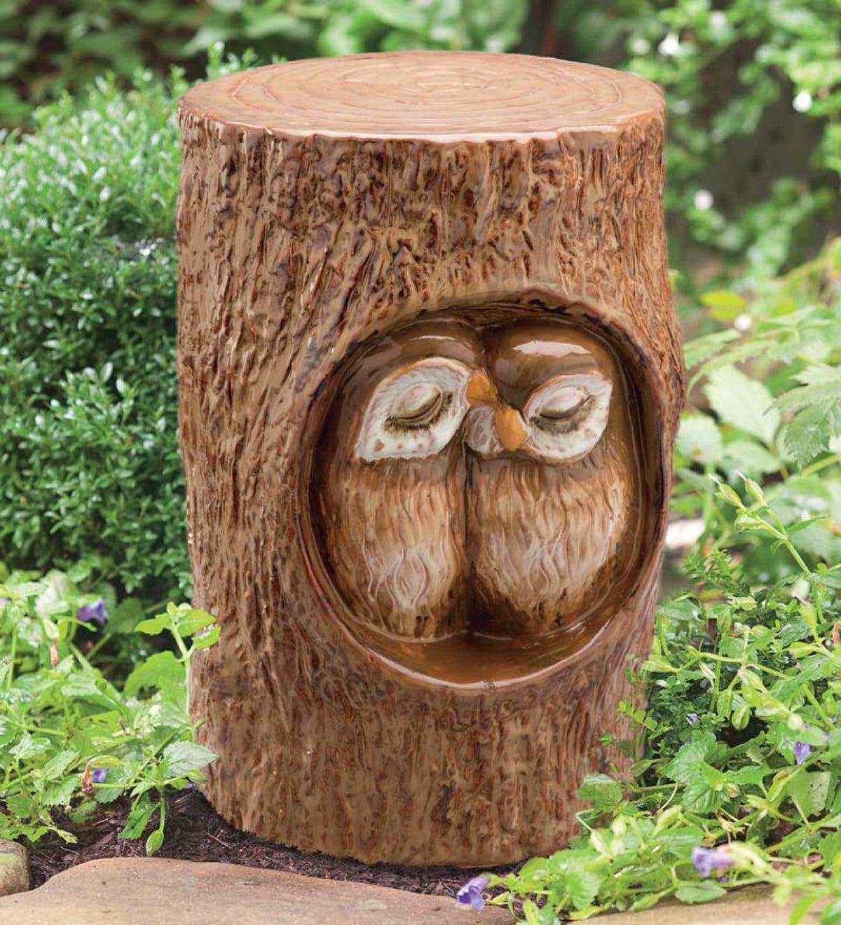 Loving Owls Ceramic Garden Stool