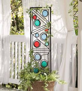 Geometric Metal and Glass Trellis