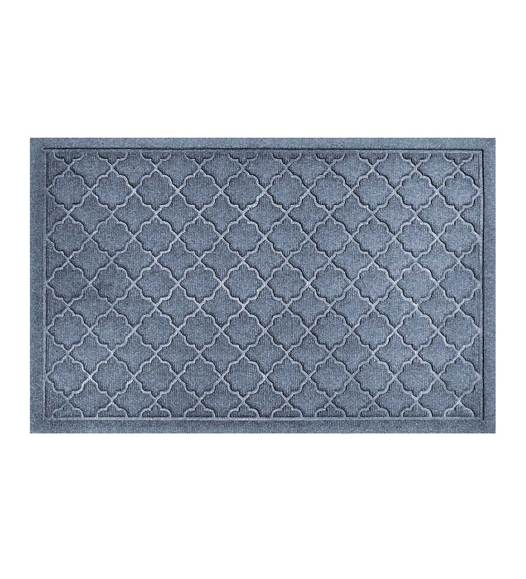 Waterhog Indoor/Outdoor Geometric Doormat, 4' x 6' - Bluestone
