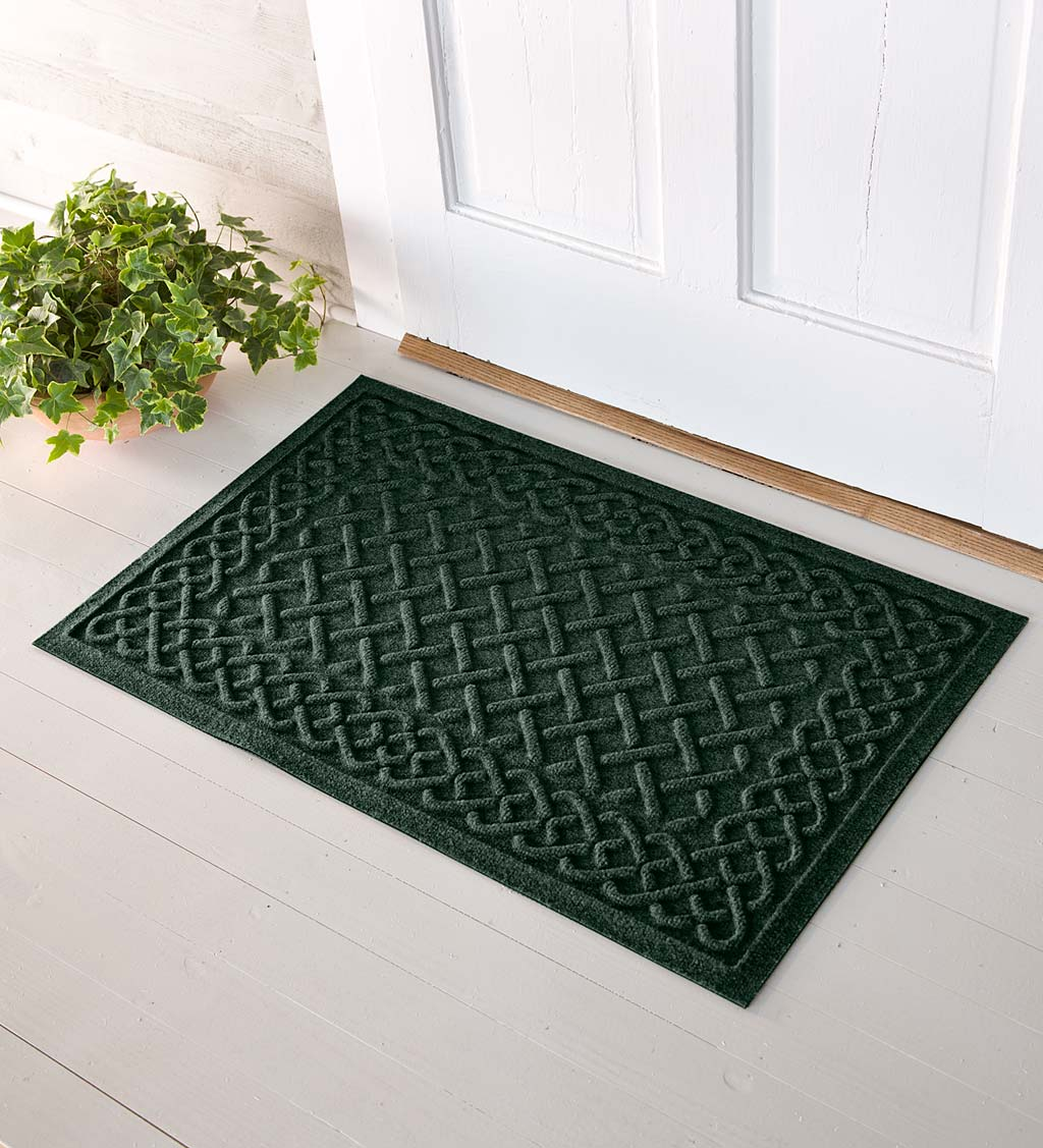 Waterhog Cable Weave Doormat, 2' x 3' - Green