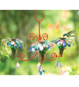 Handcrafted Mini Blossom Chandelier Hummingbird Feeder