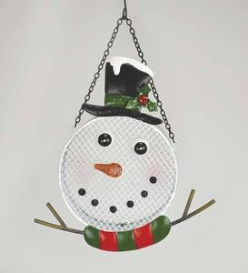 Snowman Metal Mesh Bird Feeder