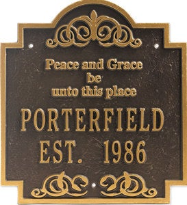 Peace & Grace Plaque