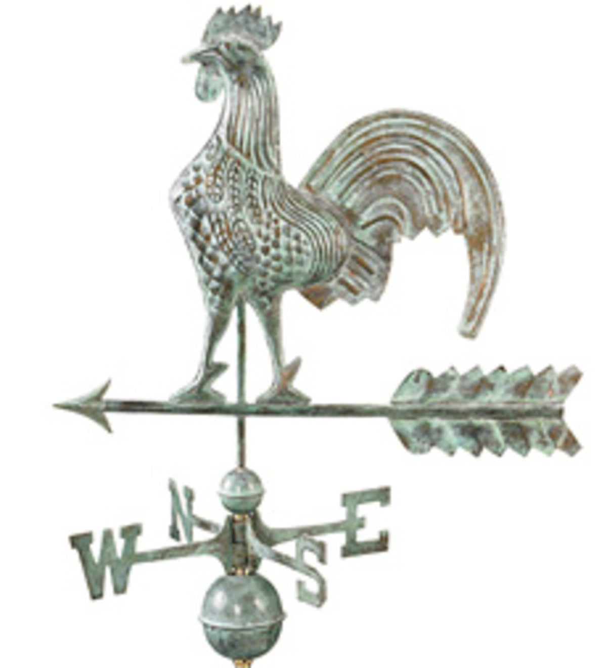 Blue Verdi Rooster Weathervane