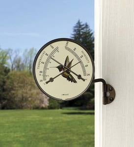 Hummingbird Wall-Mount Thermometer and Hygrometer