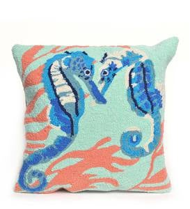 Seahorse Indoor/Outdoor Pillow