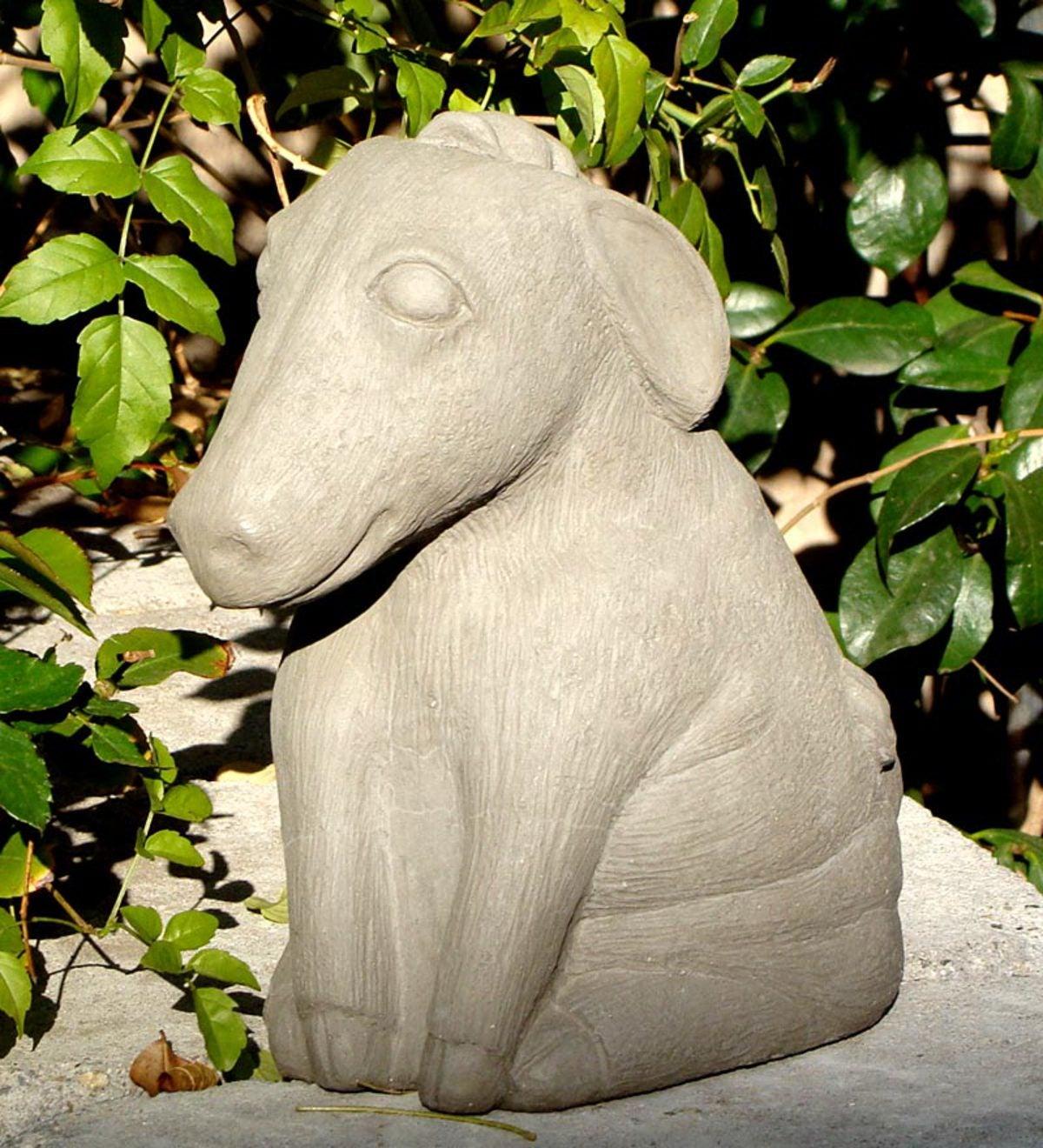 Handcrafted Stone Donkey Garden Sculpture