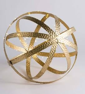 Metal Sphere Ornaments, Set of 3