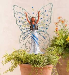 Beaded Metal Butterfly Fairy