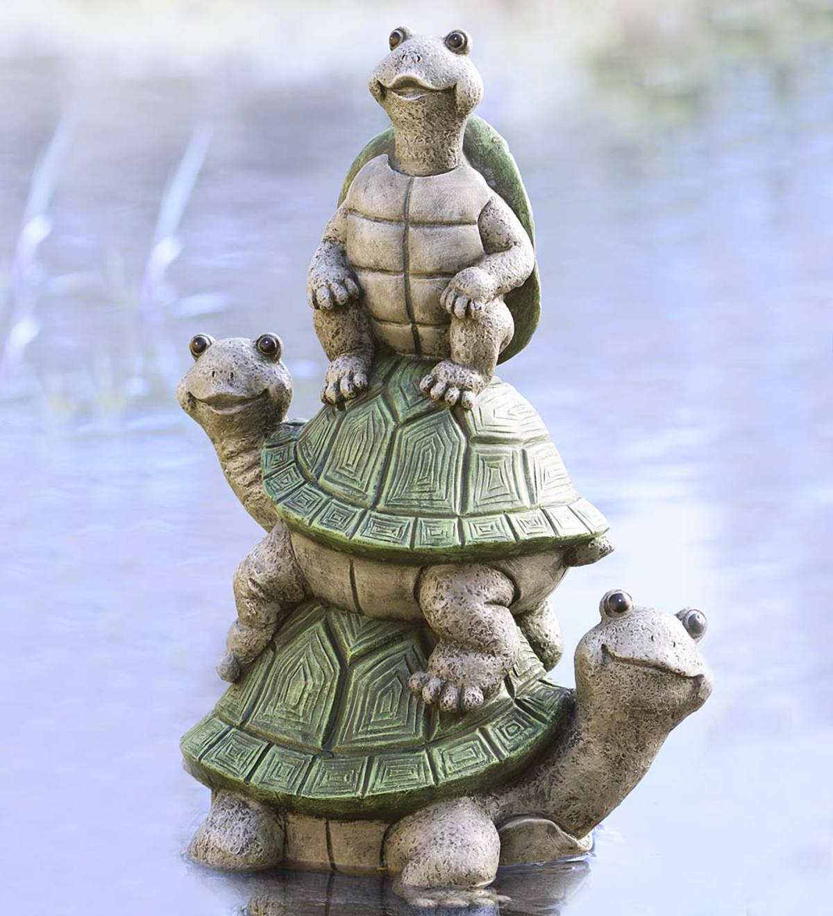 Tower of Turtles Yard Sculpture