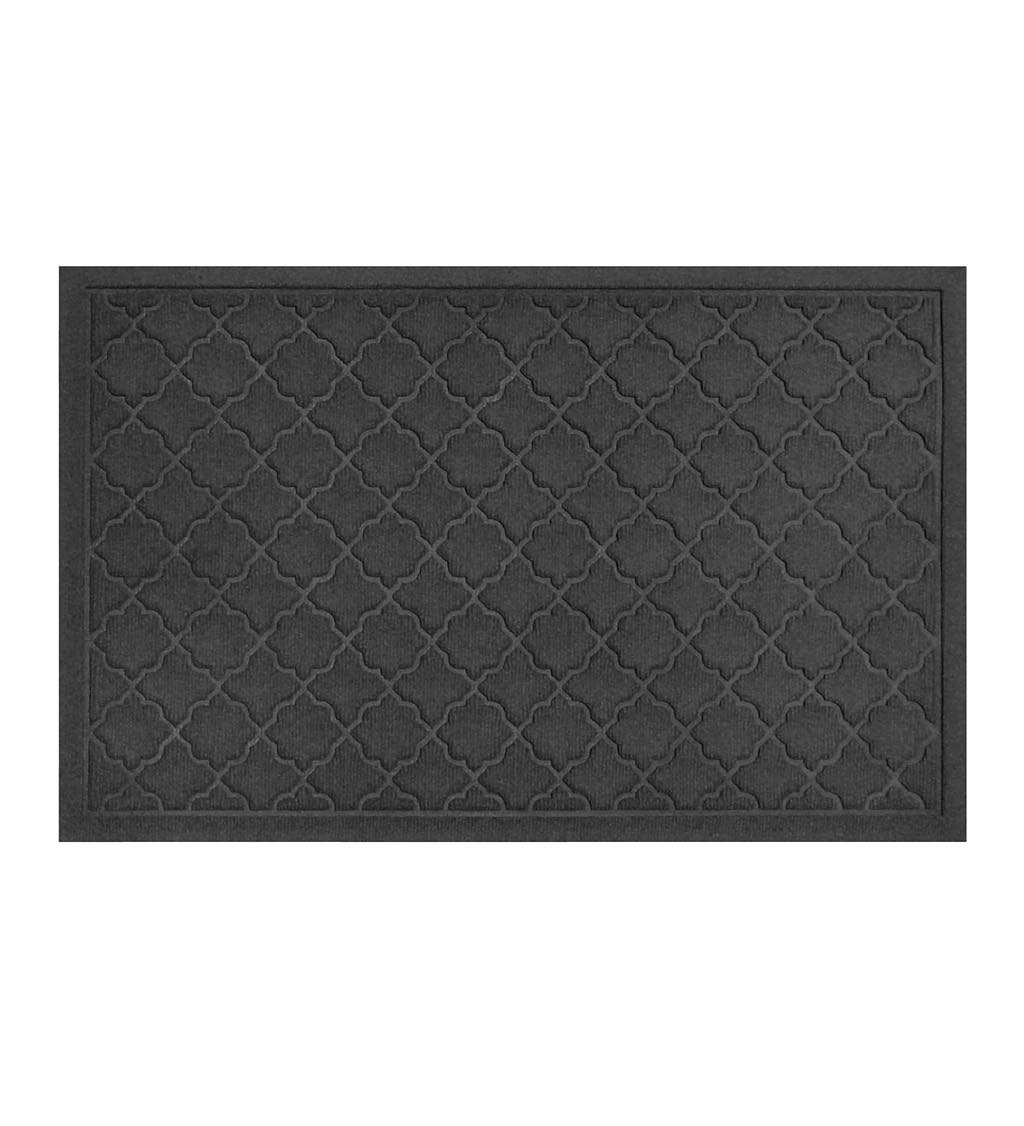 Waterhog Indoor/Outdoor Geometric Doormat, 4' x 6' - Charcoal