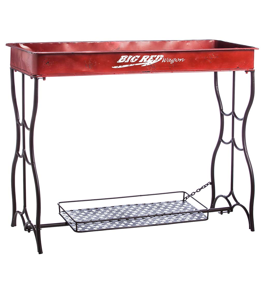 Red Wagon Potting Table - Red