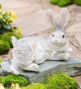 Lying Down Bunny Sculpture