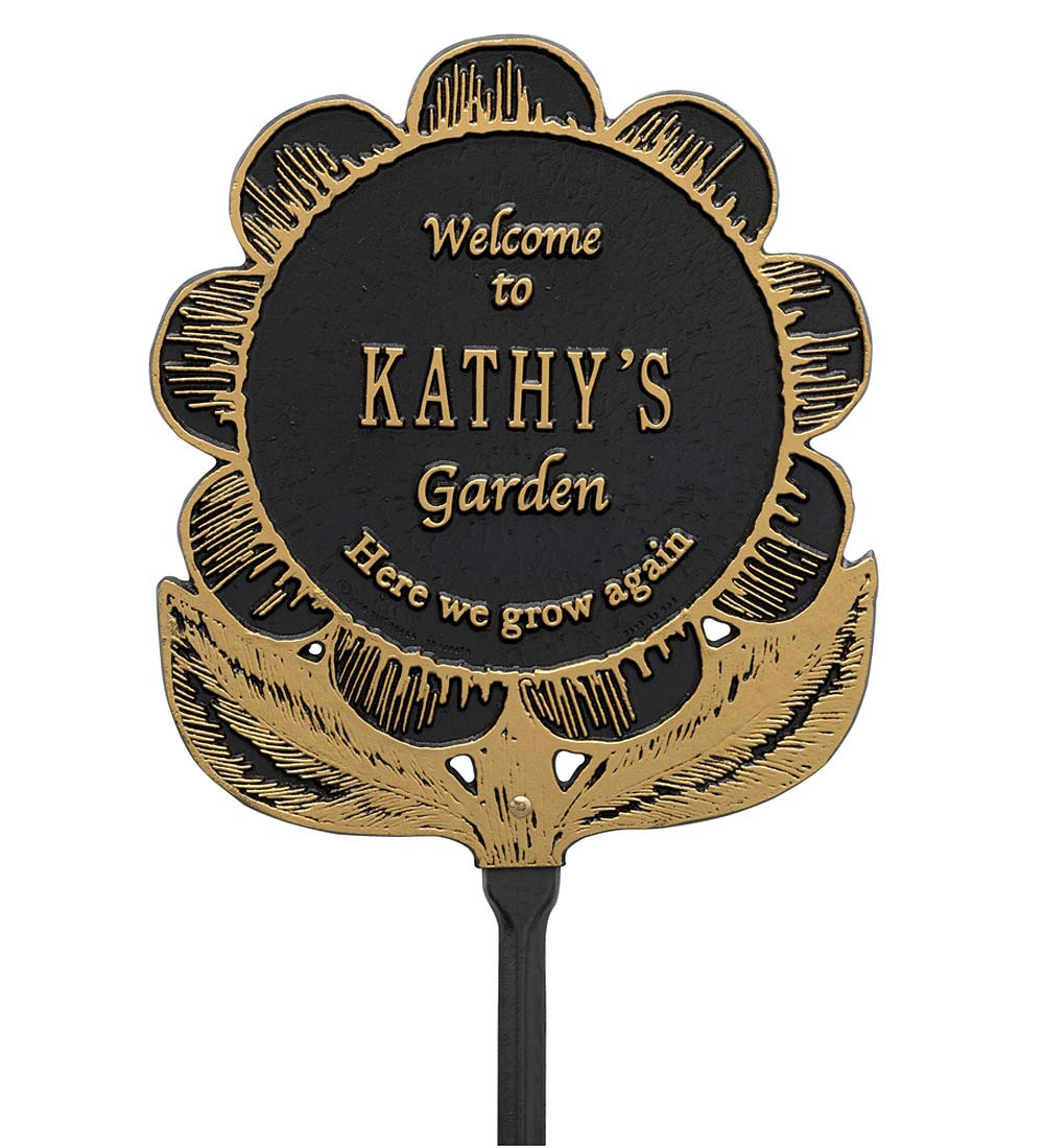 Personalized Flower Garden Plaque swatch image