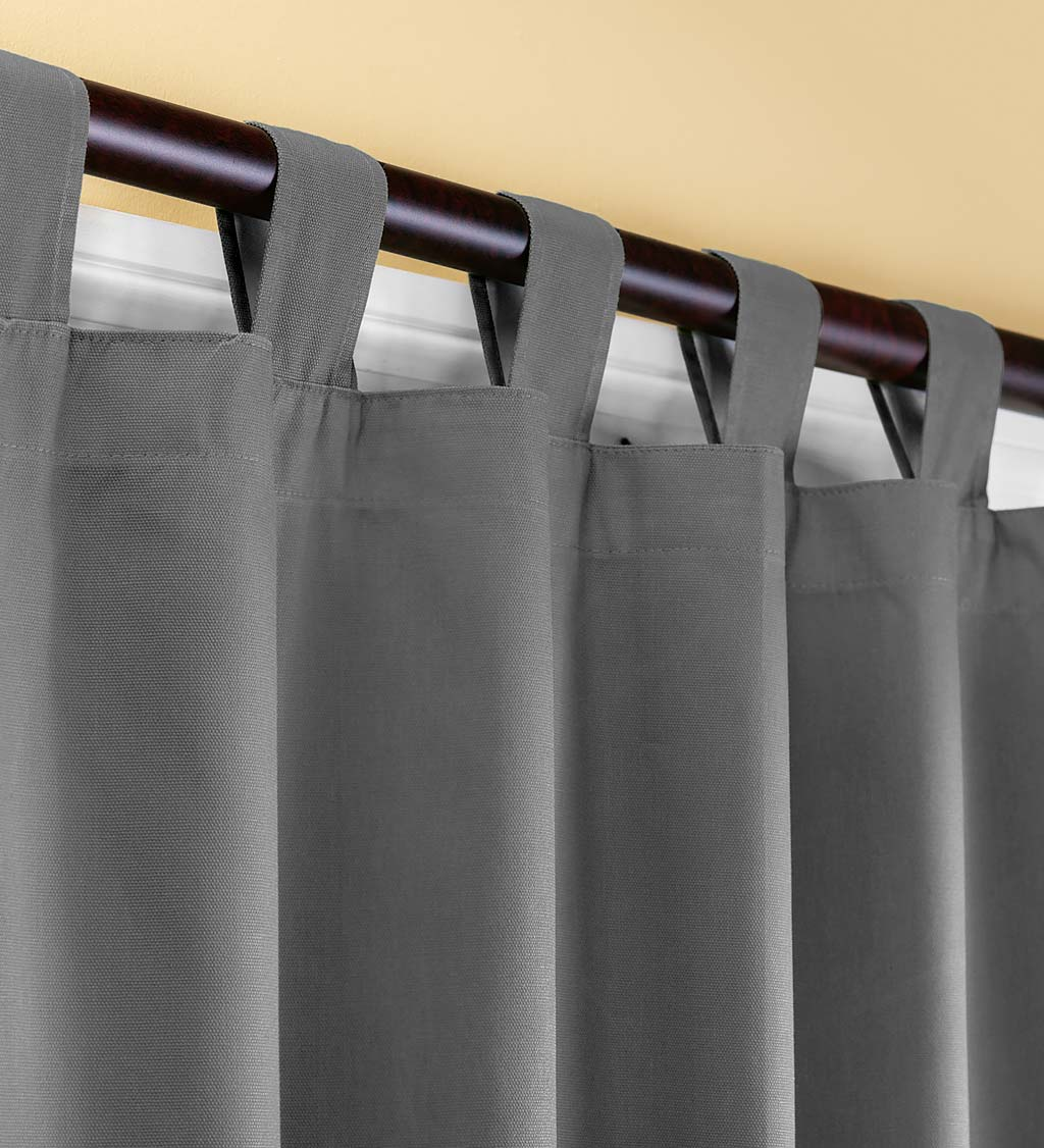 "95""L Thermalogic Energy Efficient Insulated Solid Tab-Top Curtain Pair - Gray"