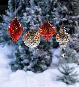 Indoor/Outdoor Shatterproof Holiday Lighted Hanging Ornament