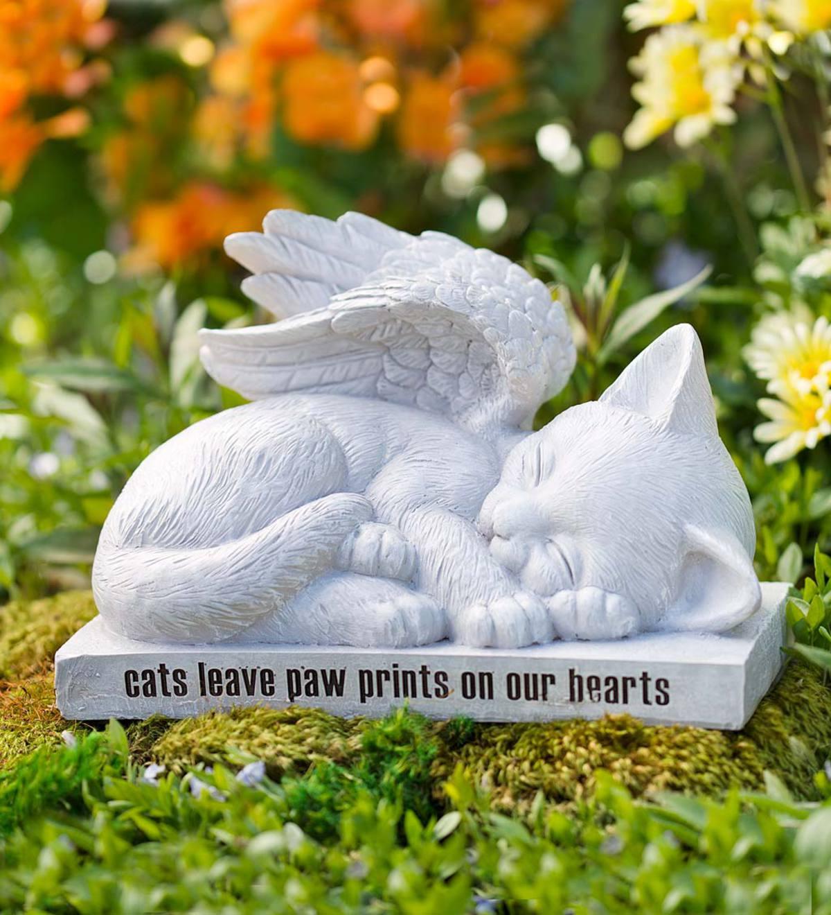 Cat Angel Memorial Statue