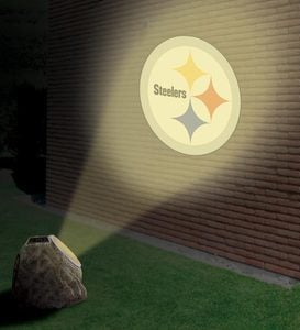Solar-Powered Logo Projection Rock - Chiefs
