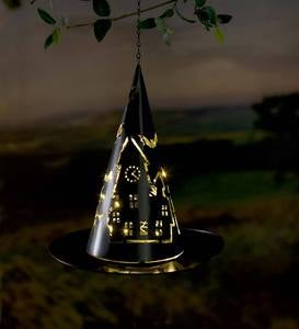 Lighted Metal Witch's Hat