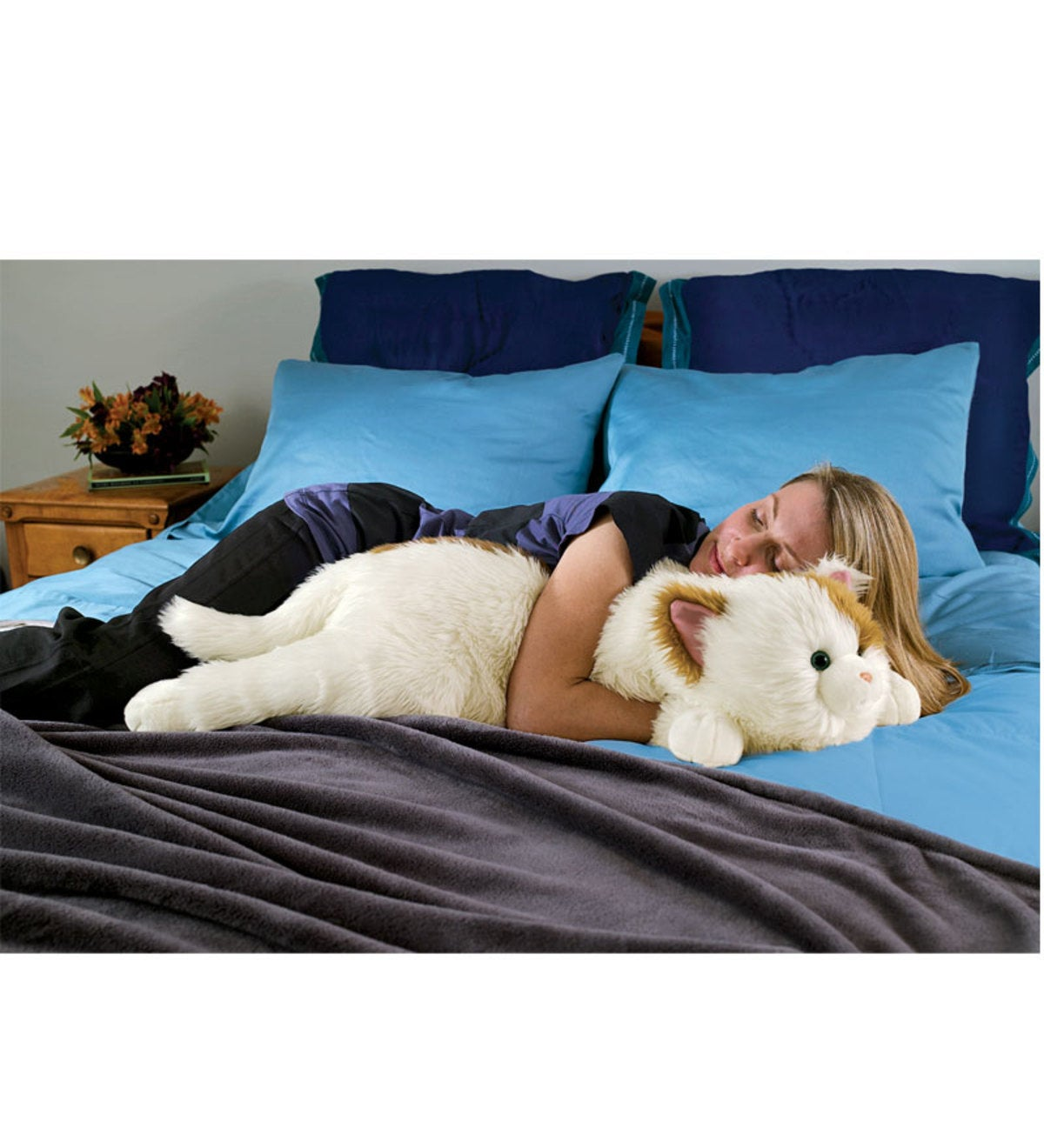 Cat Body Pillow Black White Wind And Weather