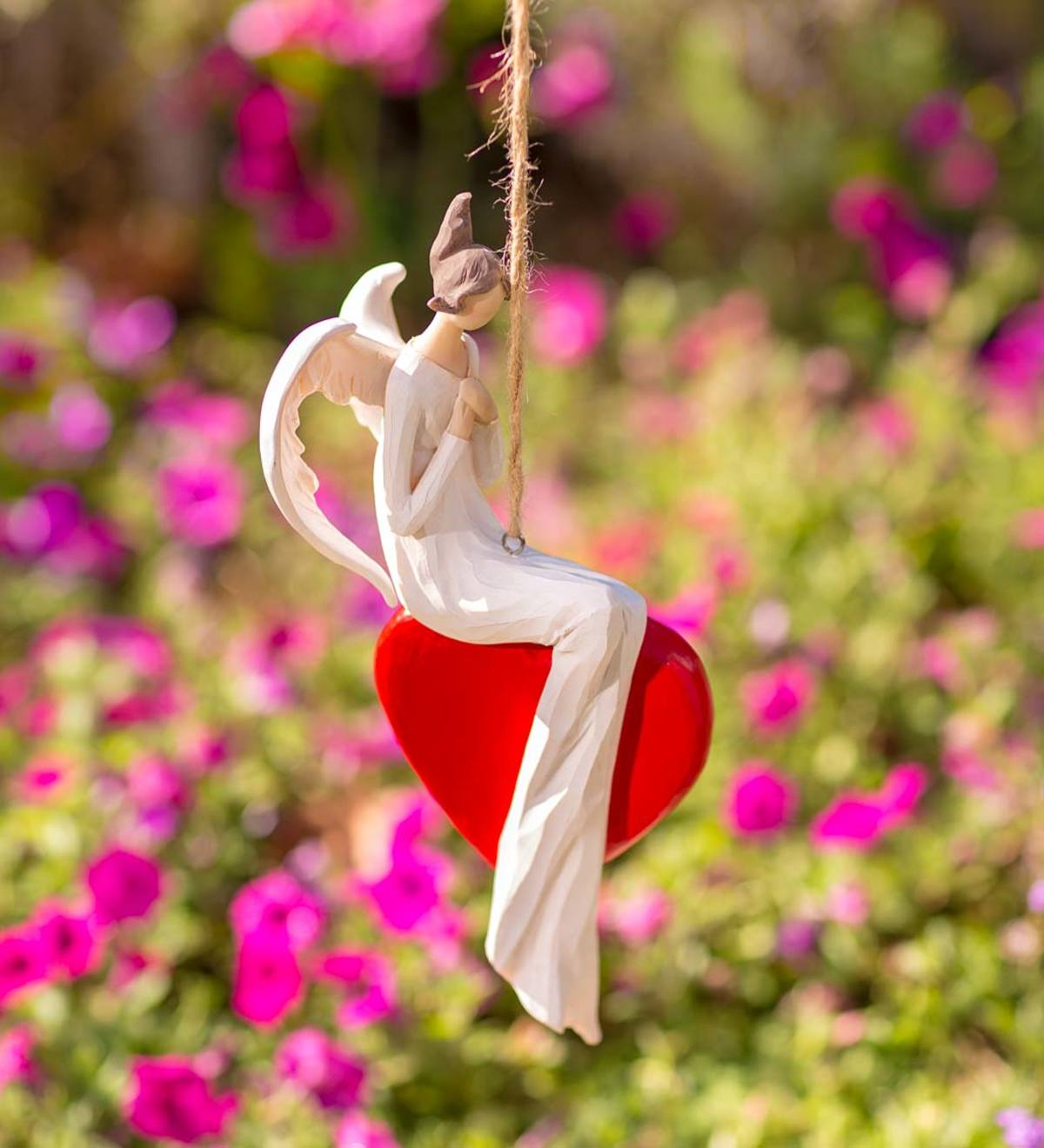 Angel on Heart Hanging Decoration