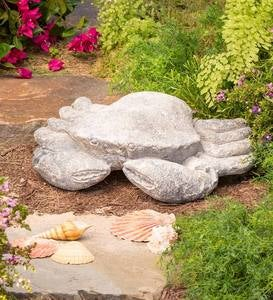 Oversized Indoor/Outdoor Resin Crab Sculpture with Stone Finish