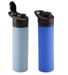 20-ounce Silicone Water Bottle - Gray