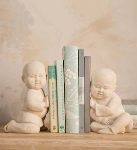 Baby Monk Bookends, Set of 2