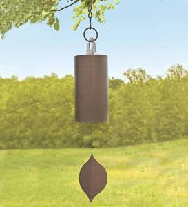 Antiqued Copper-Colored Steel Bell with Wall Mount