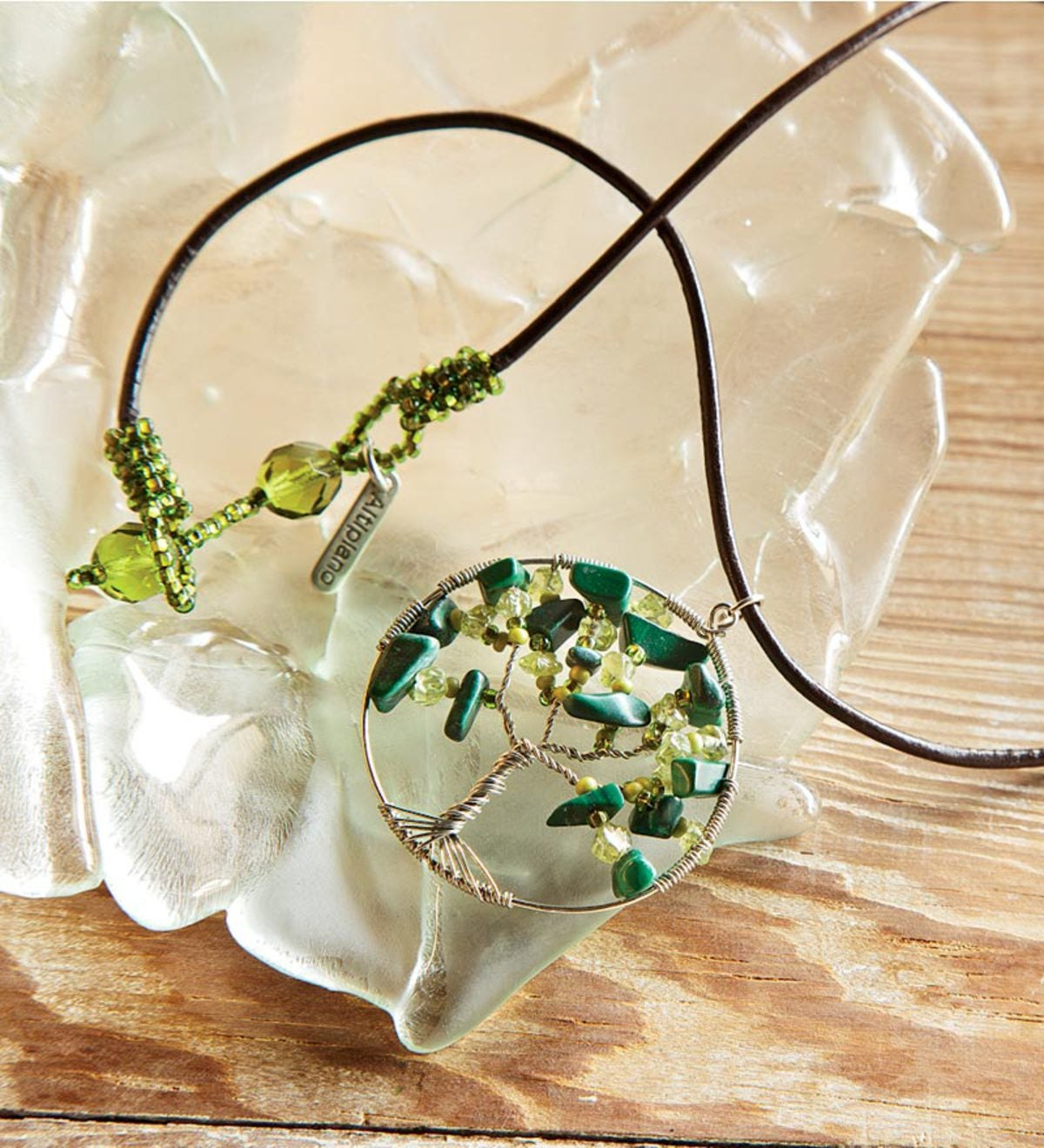 Tree of Life Necklace - Green