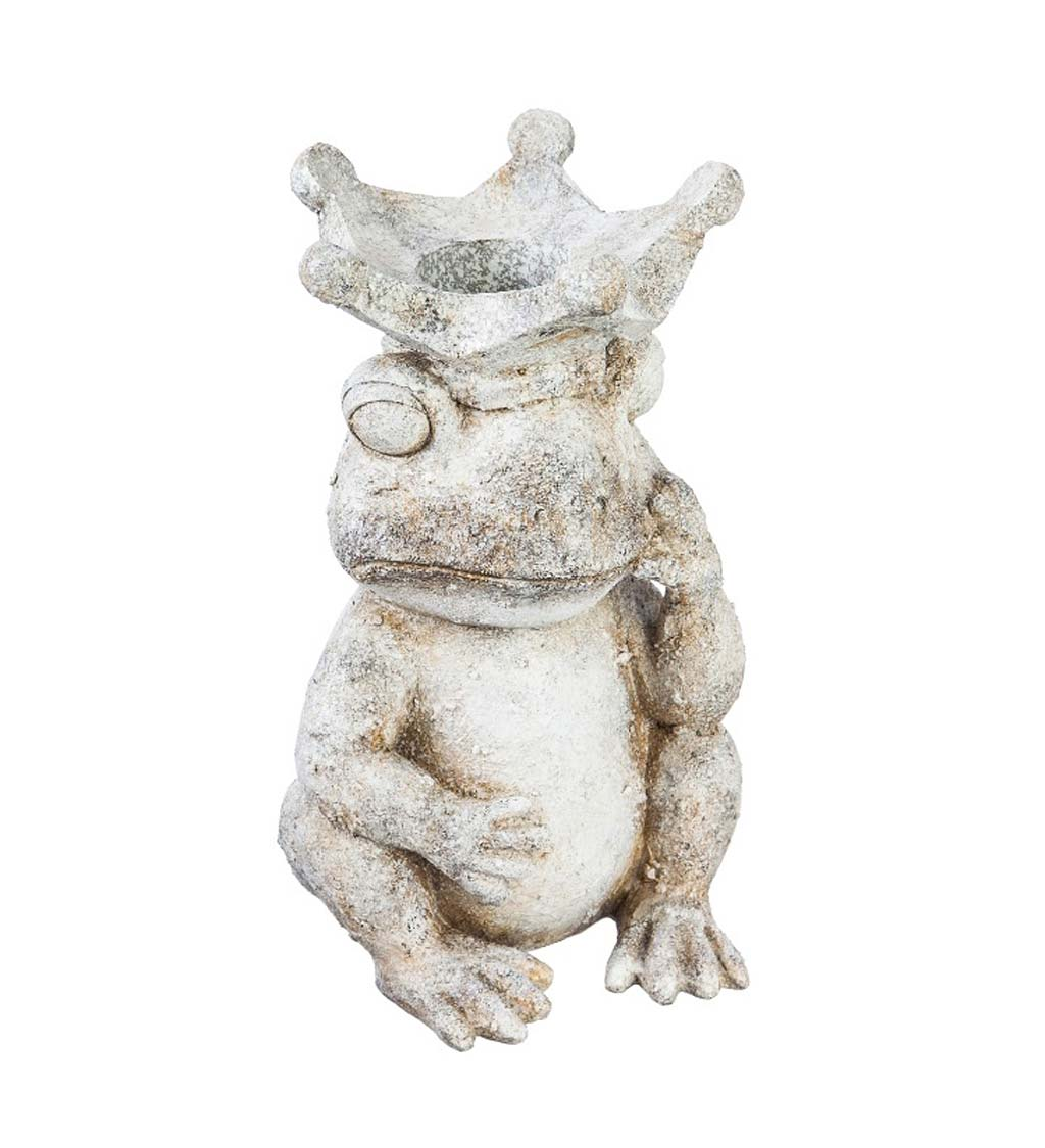 Frog Prince Resin Gazing Ball Stand