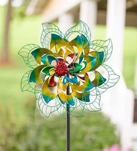 Rainbow Flower Metal Wind Spinner