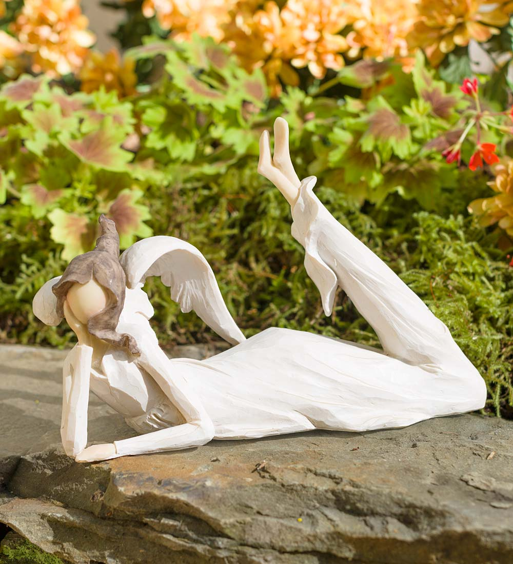 Lying Down Thinking Angel Indoor/Outdoor Sculpture