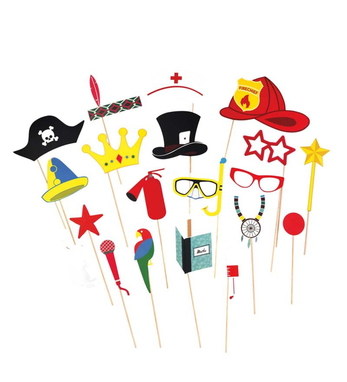 Kids' Photo Booth Prop Set