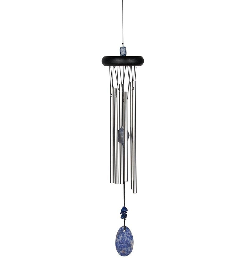 Chakra Wind Chimes with Semi-Precious Stone Accents