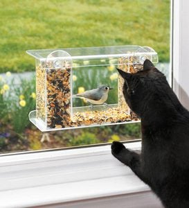 One-Way Mirror Window Mount Bird Feeder