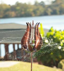 Bronze Tulip Water Wind Spinner