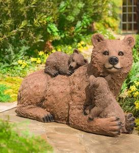 Mama and Baby Bears Sculpture