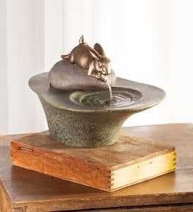 Bunny Tabletop Fountain